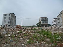 Village housing being demolished for redevelopment (Wuhan)