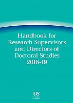 Handbook for Supervisors and Directors of Doctoral Studies 1819