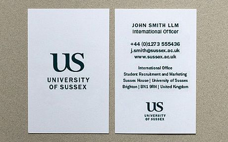 An example of a Sussex business card