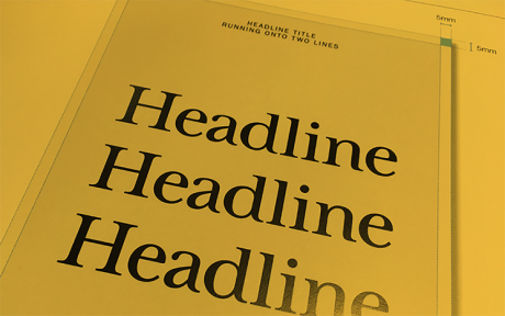 Headline text on a page