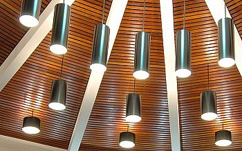 Lamps in a lecture theatre