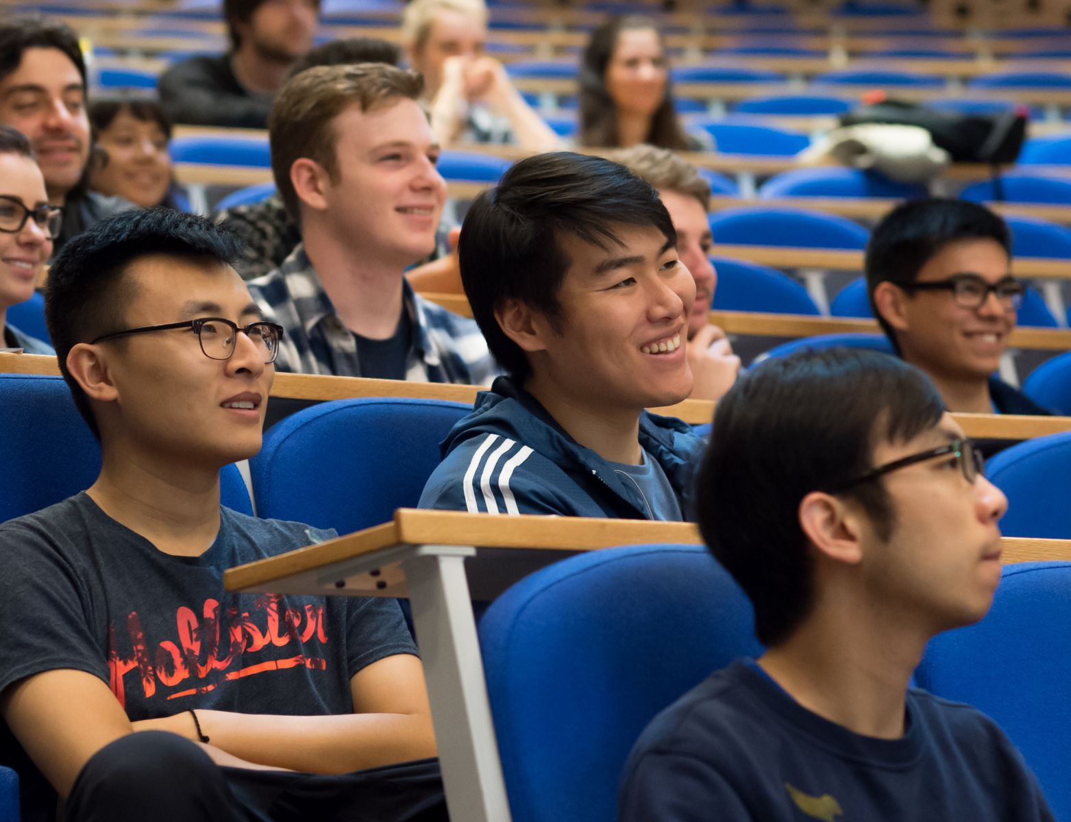 Students in a lecture at the University of Sussex