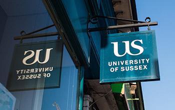 University of Sussex shop sign