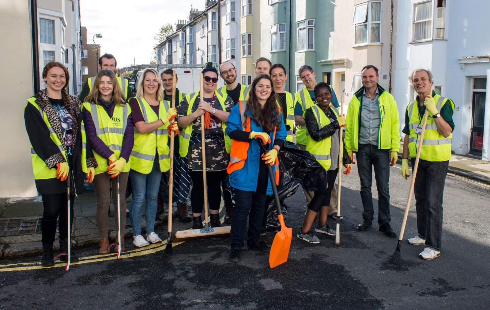 Sussex students help clean up Brighton's streets
