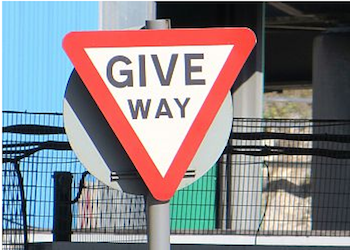 A picture of a Give Way sign