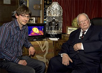 A picture of an academic with Patrick Moore