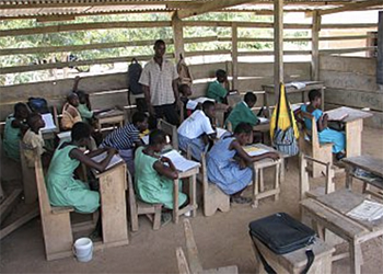Children in a classroom at school