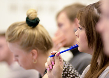 Students in a seminar at the University of Sussex