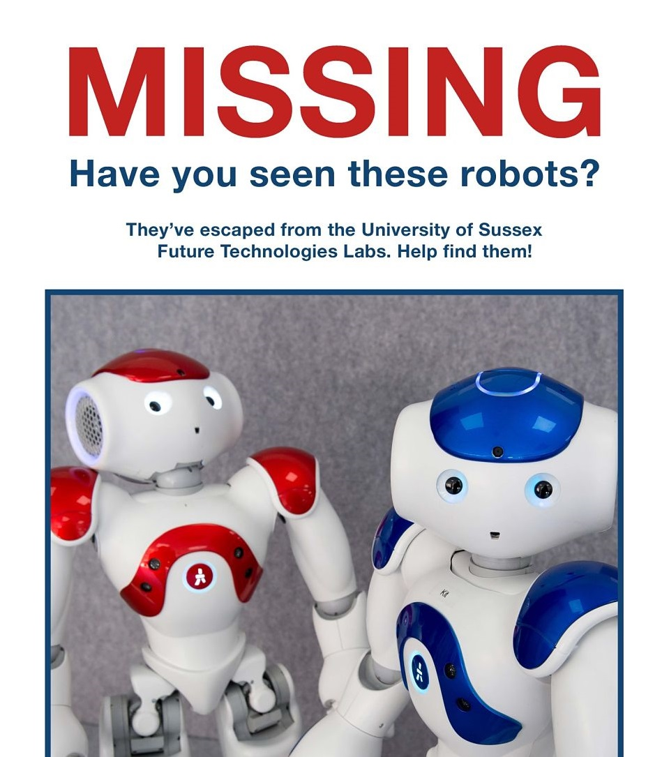 Missing robots poster