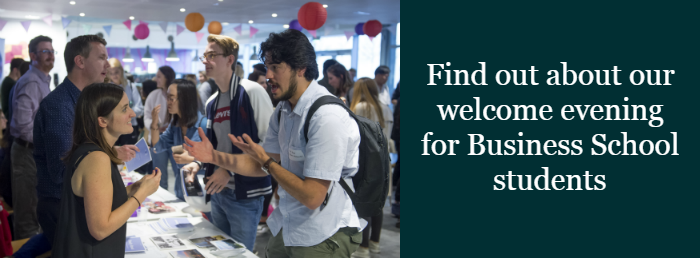 Find out about our welcome evening for Business School students