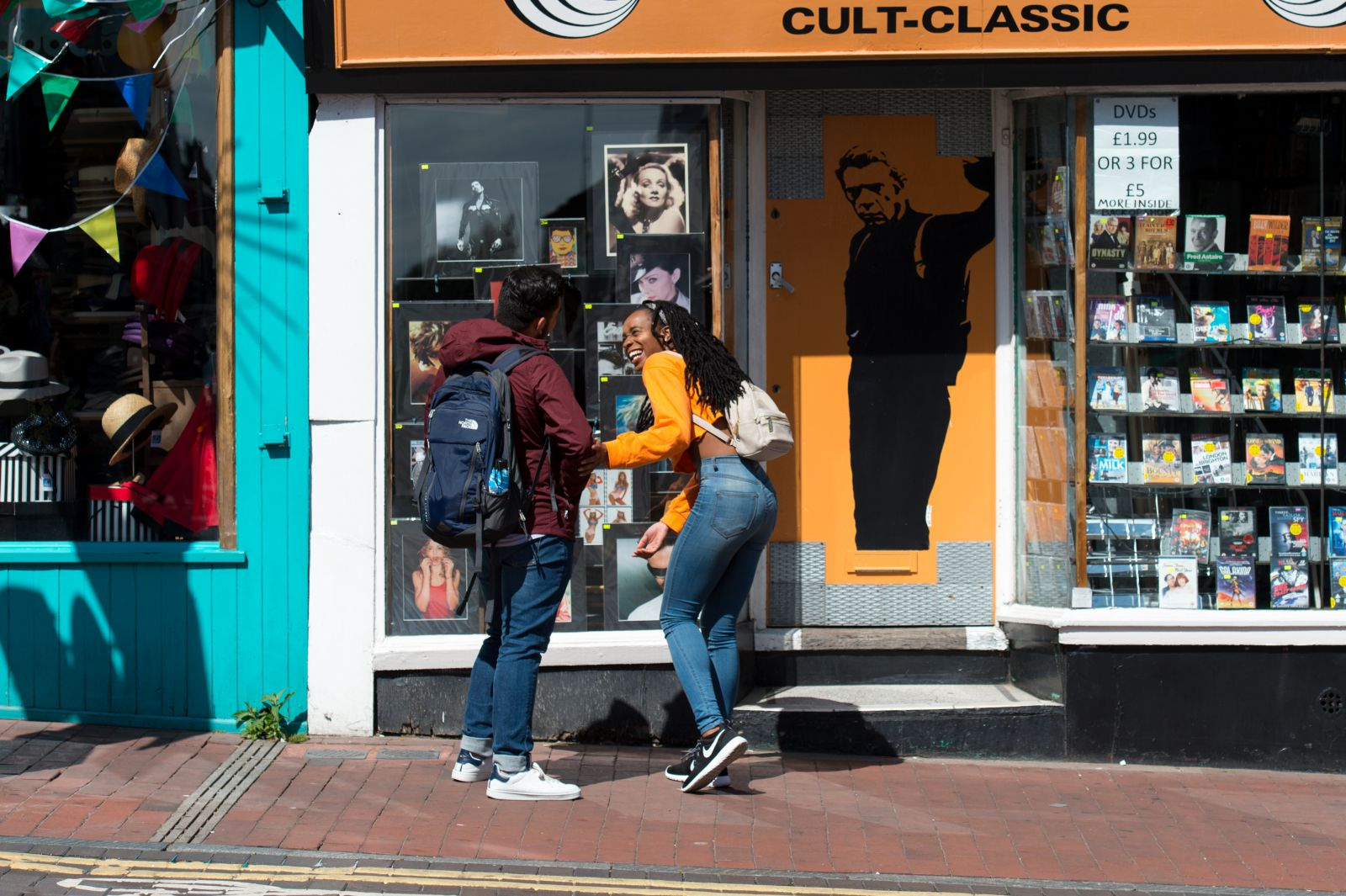 Students shopping in the lanes in Brighton & Hove