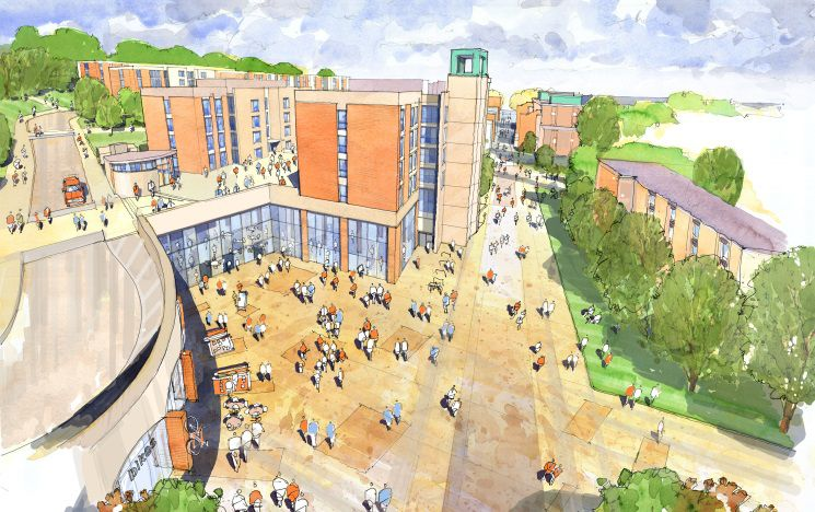 An illustration of the new Student Centre