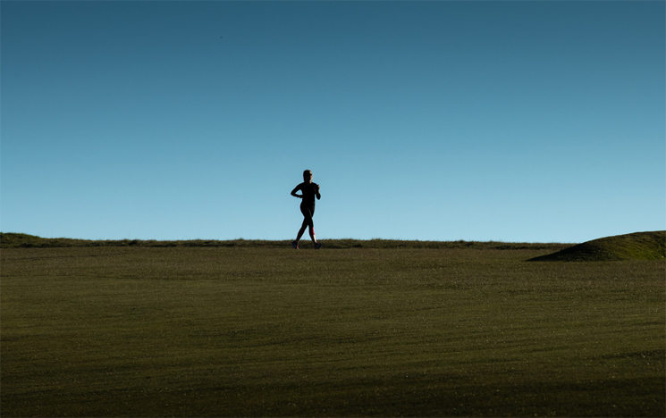 A runner on the South Downs